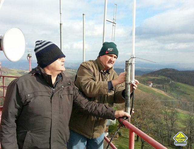 Замена пријемне антене на YU0VUE (YU2MS и YU1ZZ)