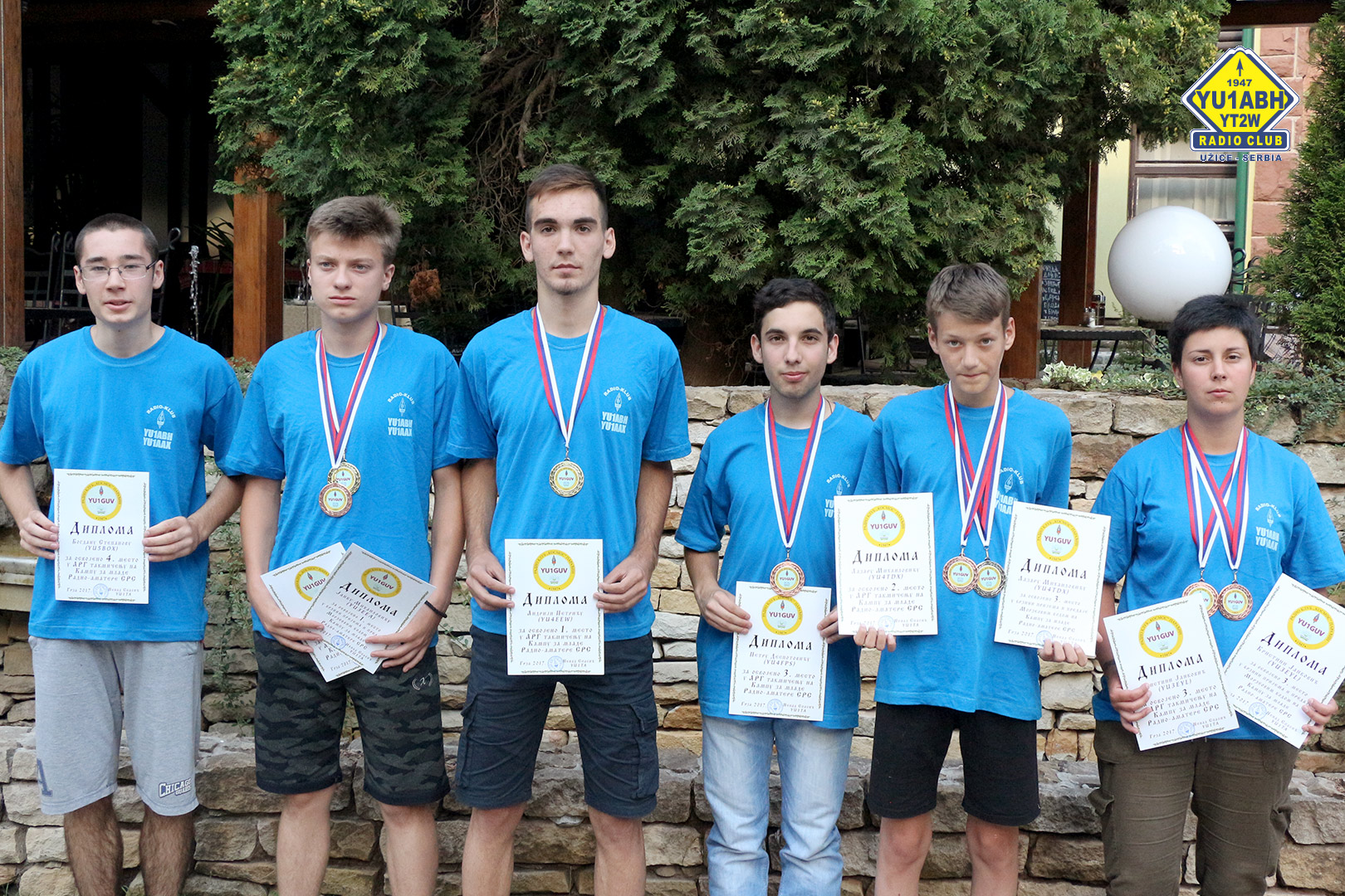Janko Mihailovic Yu3eea Won The First Place In High Speed Telegraphy And The Third Place In Radio Goniometry